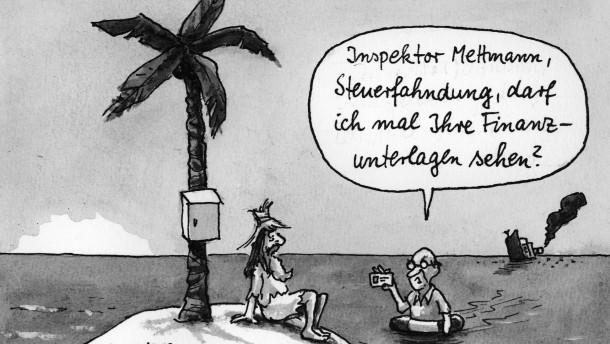 Karikatur / Greser und Lenz / Steuerfahndung / Inselwitz Nr.11093