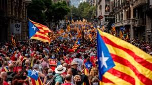 Hunderttausende protestieren in Barcelona