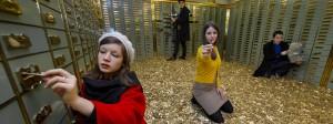 Ein Geldbad: So warb eine Schweizer Initiative fürs Grundeinkommen.