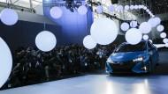 Grüner Imageträger: Toyota präsentierte sein neues Modell Prius Prime im März auf einer Autoshow in New York.
