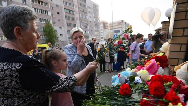 Entsetzen nach Gewalttat an russischer Schule