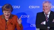 Merkel und Seehofer wollen gemeinsam in den Wahlkampf ziehen