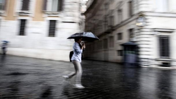 Venedig versinkt im Regen