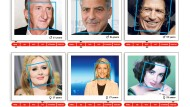"""Howhots"" Urteil (von links nach rechts): Mike Krüger (hmm...), George Clooney (okay), Keith Richards (nice), Adele (hot), Judit Rakers (stunning), Elizabeth Taylor (godlike)"