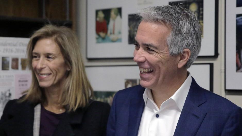 Joe Walsh und seine Ehefrau Helene in New Hampshire im November 2019