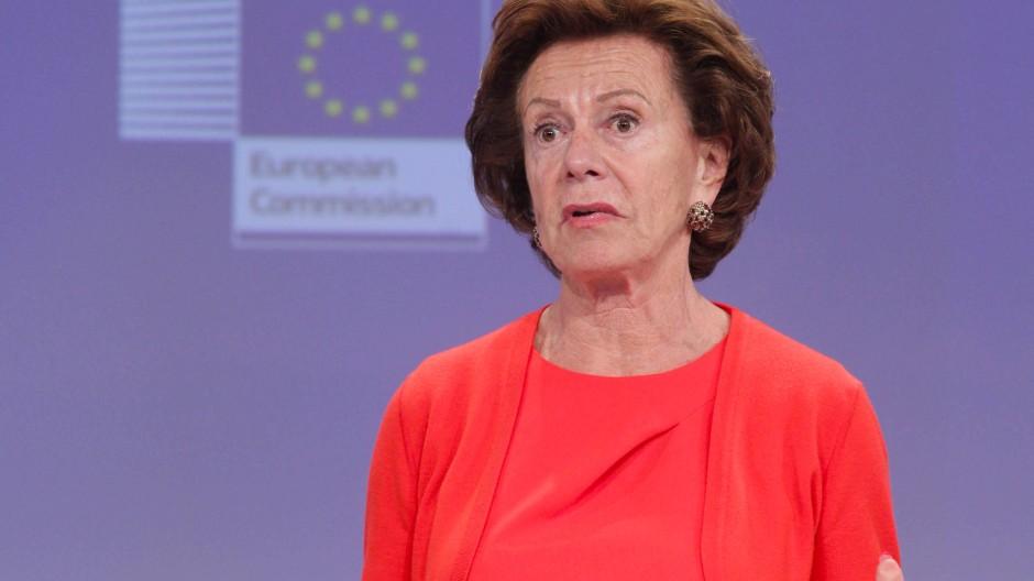 Briefkastenfirma auf den Bahamas: die ehemalige EU-Kommissarin Neelie Kroes