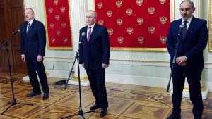 Erstes Treffen in Moskau unter Vermittlung Putins