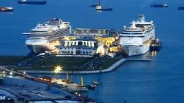Touristin fällt von Kreuzfahrtschiff