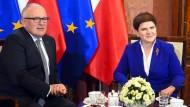 """""""Leidenschaftslos"""": Der Vizepräsident der Europäischen Kommission, Franz Timmermans, am Mittwoch in Brüssel."""