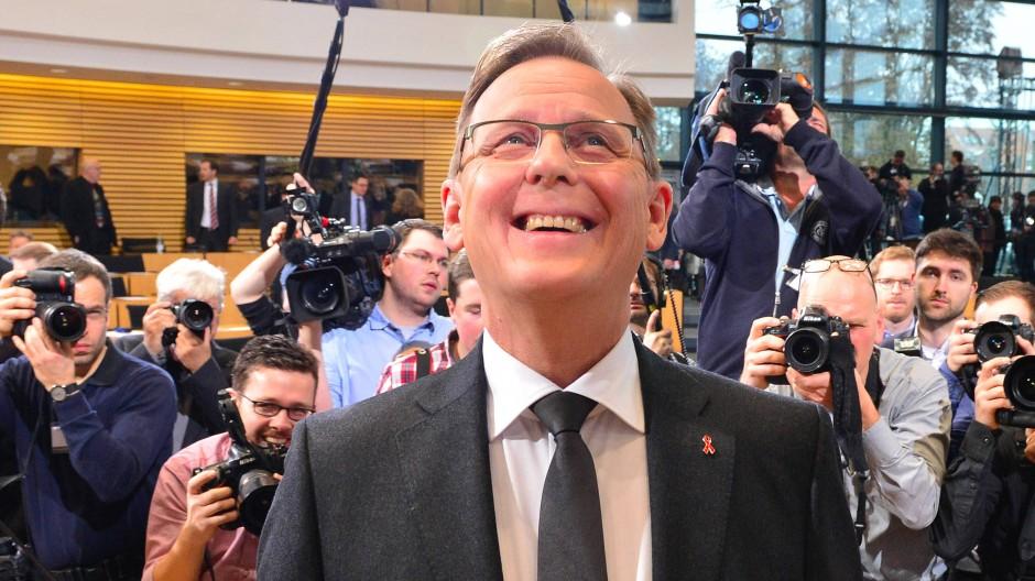 Bodo Ramelow nach seiner Wahl zum ersten Ministerpräsidenten