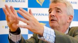 """Ryanair-Chef hält Gewerkschafts-Forderungen für """"aberwitzig"""""""