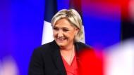 Marine Le Pen bei ihrer eine Rede nach der Präsidentschaftswahl.