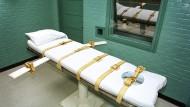 Todeszelle des Huntsville-Gefängnisses in den Vereinigte Staaten
