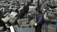 Jetzt nur noch Müll: Ausgemusterte Fernsehgeräte in China