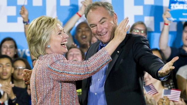 Tim Kaine soll angeblich Clintons Vizepräsident werden