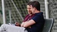 Wen brauchen wir noch? Eintracht-Trainer Kovac und Sportvorstand Bobic basteln an der neuen Mannschaft.