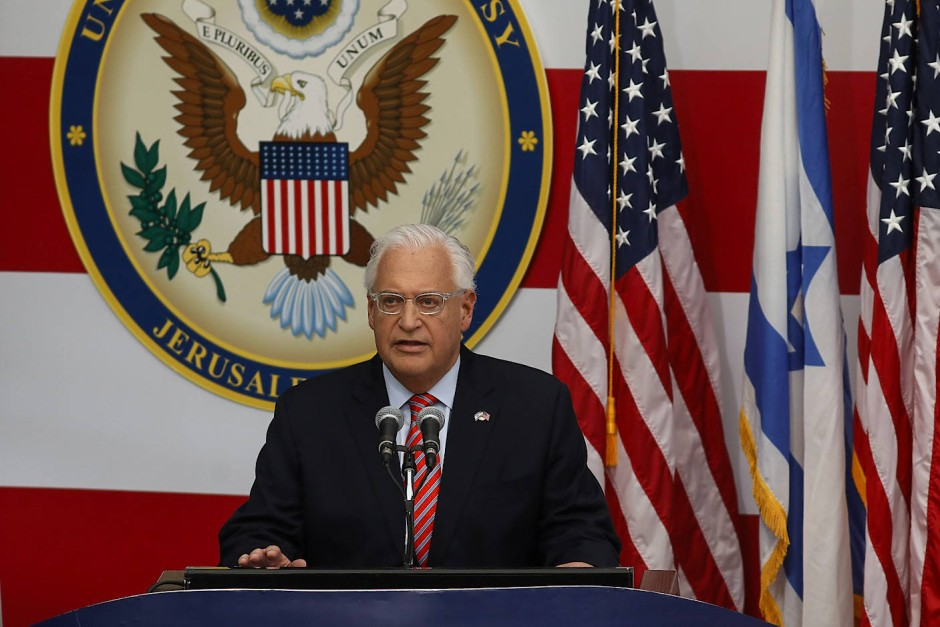 David Melech Friedman, amerikanischer Botschafter in Israel, eröffnete am Montag die neue amerikanische Botschaft in Jerusalem.