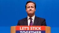 Für ihn wäre der Brexit ein Desaster: der britische Premierminister David Cameron