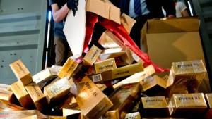Zoll entdeckt 9,5 Millionen Zigaretten