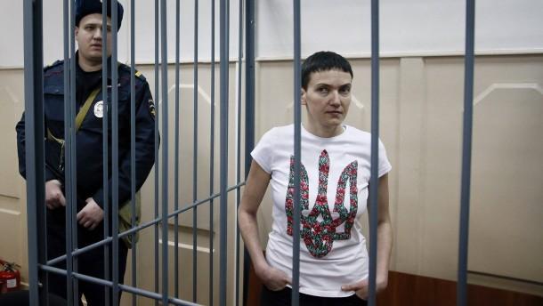 """Ukrainische Pilotin an der """"Grenze"""""""