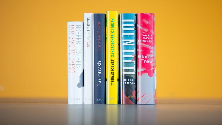Da waren es nur noch sechs: Die Titel auf der Shortlist zum Deutschen Buchpreis