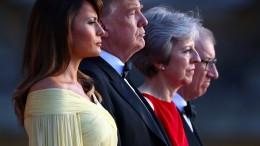 May empfängt Trump zum Galadinner