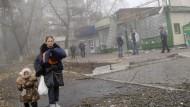 Artillerie-Gefechte um Donezk