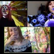 Ines Försterling trifft sich im Videochat mit Komilitoninnen, um gemeinsam zu lernen. Ein bisschen Spaß muss sein, wie ihre Hintergrundbilder zeigen.