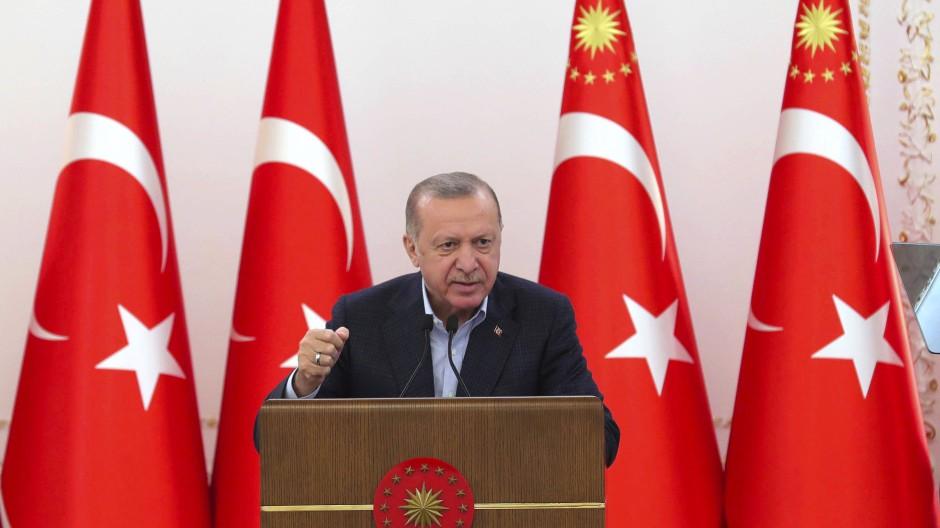 Erdogan im Mai 2021 bei einer Ansprache in Ankara