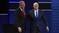 Tim Kaine und Mike Pence: Noch kennt man sie kaum. Einer von ihnen ist Amerikas nächster Vizepräsident.