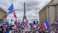 """Proteste in Frankreich: """"Ich will ins Restaurant gehen, ohne geimpft zu sein"""""""