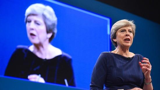 Theresa Mays Rede voller Pech und Pannen