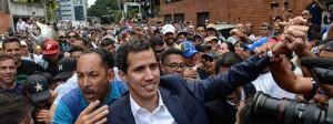 Anhänger feiern ihren neuen Staatschef Guiado