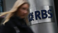 Filiale der Royal Bank of Scotland (RBS) in London