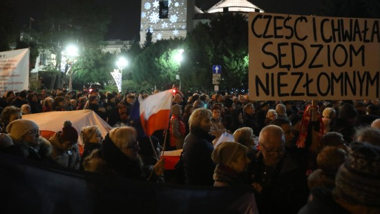 Protest gegen umstrittene Justizreform in Polen