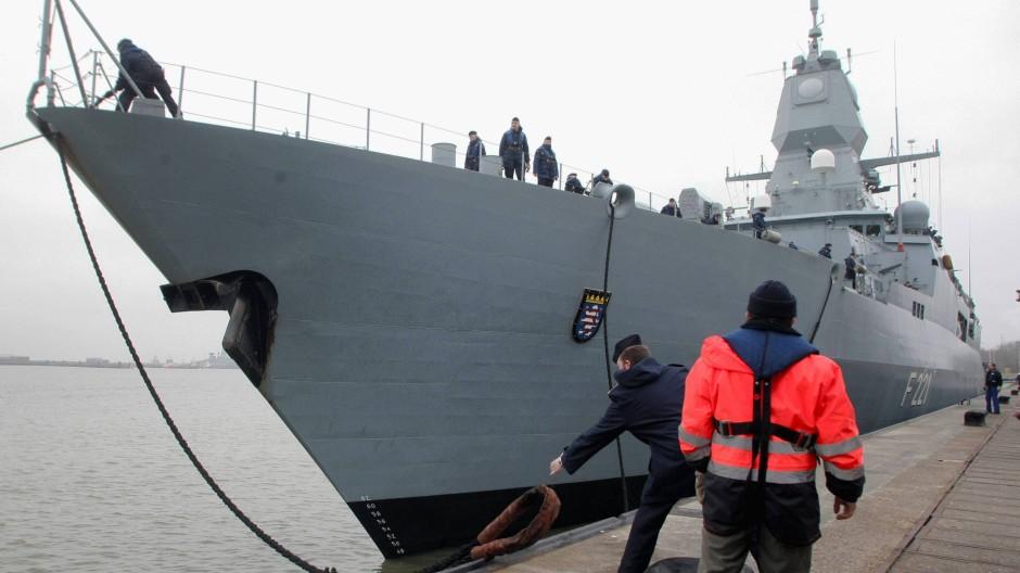 Gerade am Horn von Afrika im Einsatz: Die Fregatte Hessen
