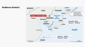 Infografik / Karte / Nordkoreas Atomtest