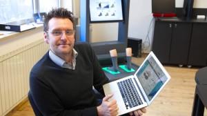 Thomas Harmes - Der Duisburger Gründer der Firma Mitfitto GmbH hat eine  neue Technologie entwickelt, um Füße besser vermessen zu können und will seinen Kunden den Schuhkauf erleichtern.
