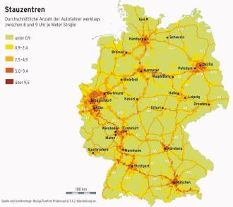 Stau Karte.Auf Deutschen Autobahnen Im Stau Wirtschaft Faz