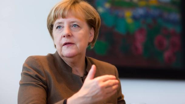Angela Merkel - Die Bundeskanzlerin und Vorsitzende der Christlich Demokratischen Union Deutschlands (CDU) beantwortet im Berliner Kanzleramt die Fragen der F.A.Z. von Berthold Kohler (Herausgeber). Jasper von Altenbockum und Dieter Frankenberger.