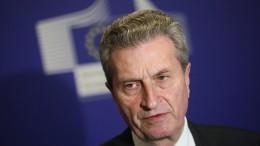 Oettinger: Berlin gefährdet Aufbruch für Europa