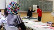 Schüler mit Migrationshintergrund in einer Leipziger Schule.