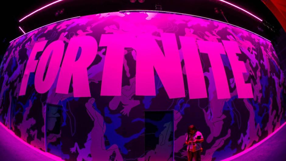 Das Logo des Videospiels Fortnite auf einer Messe in Los Angeles im vergangenen Jahr