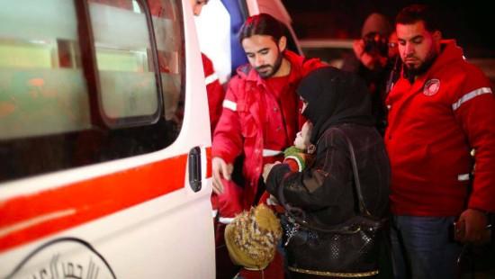 Patienten werden aus Ost-Ghuta gerettet