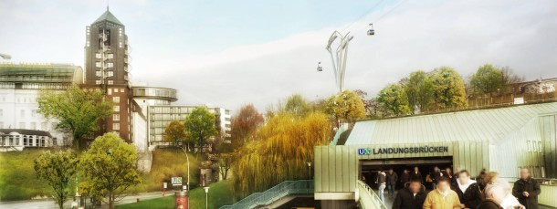Abgelehnt: ein Entwurf der Elbe-Seilbahn