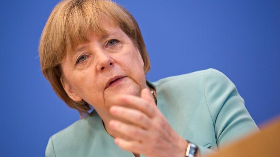 """Bundeskanzlerin Merkel:""""Auf deutschem Boden hat man sich an deutsches Recht zu halten."""