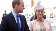 Genießen die Freude über ihr Kind im Stillen: William und Kate