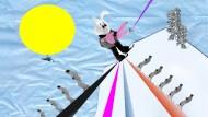 Sie Anfänger! Der Weg vom Versuchskaninchen zum Skihasen ist kein leichter, und Pisten, die mit der Farbe Schwarz gekennzeichnet sind, sollte man vorerst meiden.