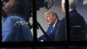 """Trump äußert Hoffnung auf """"Abflachen"""""""