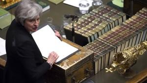 Unterhaus stimmt für Nachverhandlung mit EU